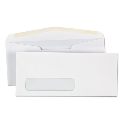 "Universal® Window Business Envelope, #10, 4 1/8"" x 9 1/2"", White, 500/Box"