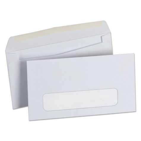 "Universal® Window Business Envelope, #6"" 3/4, 3 5/8"" x 6"" 1/2"", White, 500/Box"