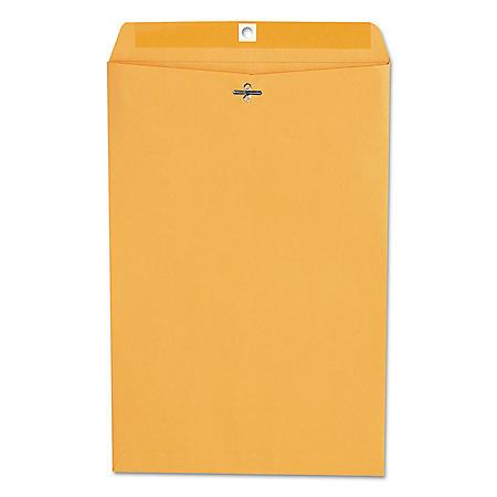 Universal Kraft Clasp Envelope, Center Seam, 28 lb. Brown Kraft., 100/Box (Various Sizes)