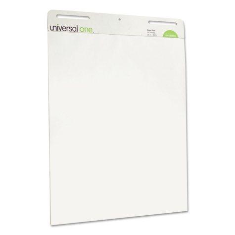 Universal® Self Stick Easel Pads, Unruled, 25 x 30, White, 2 30 Sheet Pads/Carton