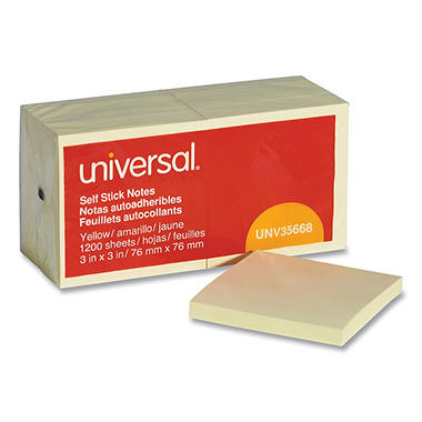 Universal Standard Self-Stick Notes, 3
