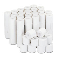 "Universal Adding Machine/Calculator Roll, 16 lb., 1/2"" Core, 2-1/4"", White, 100/CT (Various Lenght)"