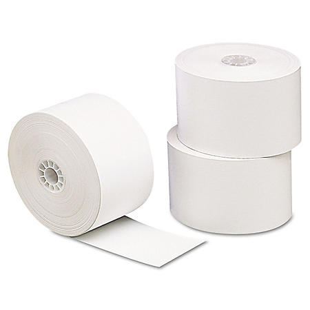 "Universal® Single-Ply Thermal Paper Rolls, 1 3/4"" x 230 ft., White, 10/Pack"