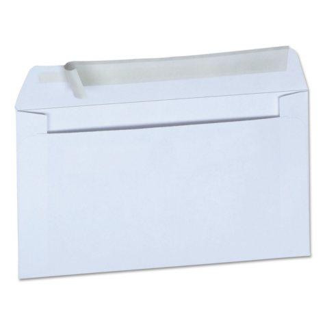 "Universal® Peel Seal Strip Business Envelope, #6"" 3/4, 3 5/8"" x 6"" 1/2"", White, 100/Box"