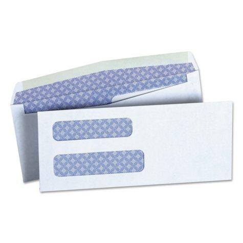 "Universal® Double Window Check Envelope, #8 5/8"", 3 5/8"" x 8 5/8"", White, 500/Box"