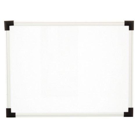 Universal Dry Erase Board, Melamine, White, Black/Gray, Aluminum/Plastic Frame (Various Sizes)