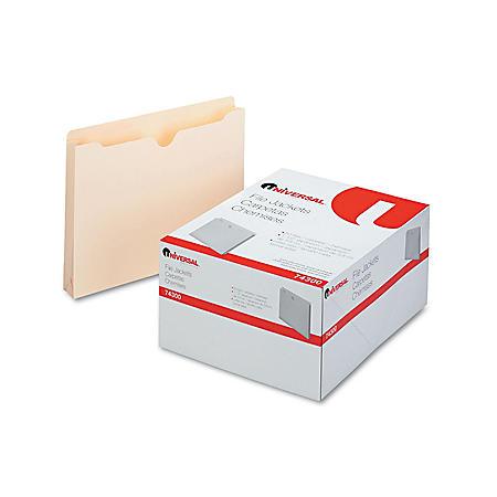 Universal Economical File Jackets, Expansion, Letter, 11 Point Manila, 50/Box (Various Sizes)