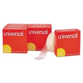 "Universal Invisible Tape, 3/4"" x 1000"", 1"" Core, Clear, 6pk."