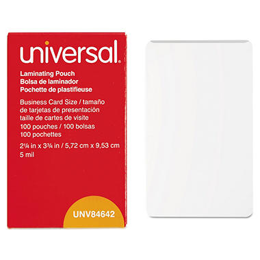 UniversalR Clear Laminating Pouches 5 Mil 2 1 4