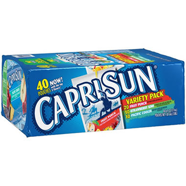 Capri Sun Variety Pack (6 fl. oz. pouches, 40 ct.)