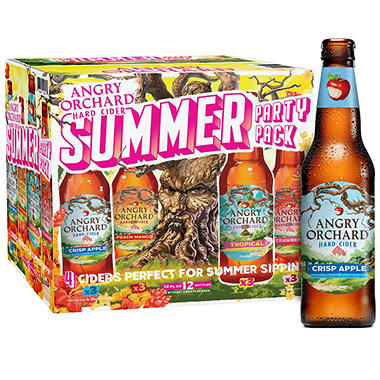 Angry Orchard Hard Cider Variety Pack (12 fl. oz bottle, 12 pk.)