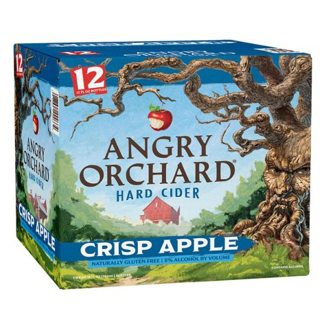 Angry Orchard Hard Cider Crisp Apple (12 fl. oz. bottle, 12 pk.)