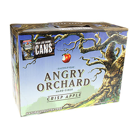 Angry Orchard Hard Cider Crisp Apple (12 fl. oz. can, 12 pk.)