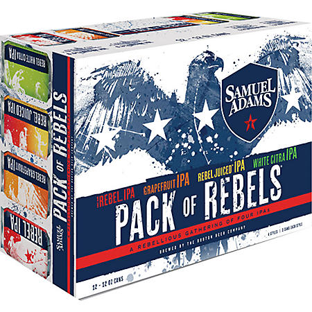 Samuel Adams Rebel IPA Pack of Rebels (12 fl. oz. can, 12 pk.)