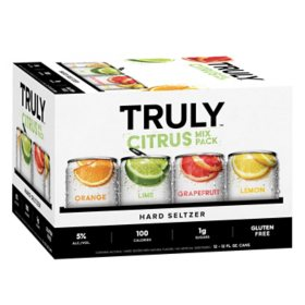 Truly Spiked & Sparkling Variety Pk. (12 fl. oz. can, 12 pk.)