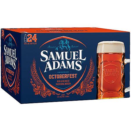 xoffline-Samuel Adams Octoberfest Beer - 24/12 oz. Longneck Bottles
