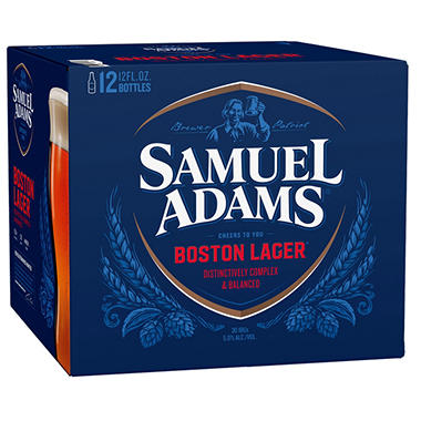 SAMUEL ADAMS LAGER 12 / 12 OZ BOTTLES