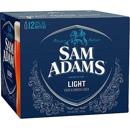 SAM ADAMS LIGHT 12 / 12 OZ BOTTLES