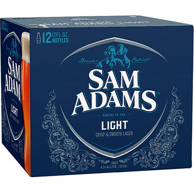 SAM  ADAMS LIGHT 12 / 12 OZ BOTTLES