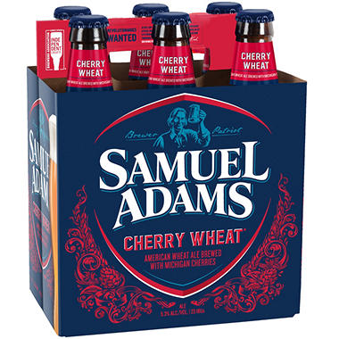 SAM  ADAMS CHERRY 6 / 12 OZ BOTTLES