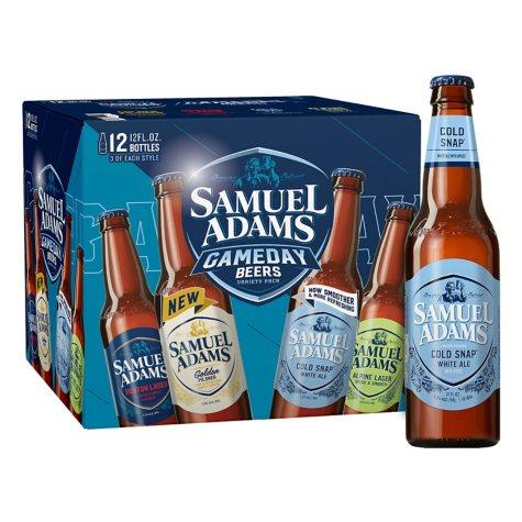 Samuel Adams Gameday Beer Variety Pack (12 fl. oz. bottle, 12 pk.)