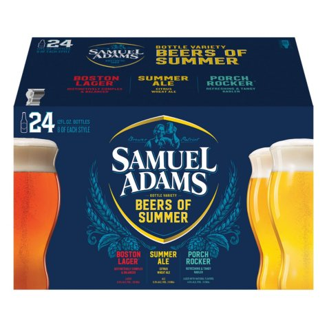Samuel Adams American Summer Variety Pack (12 fl. oz. bottle, 24 pk.)