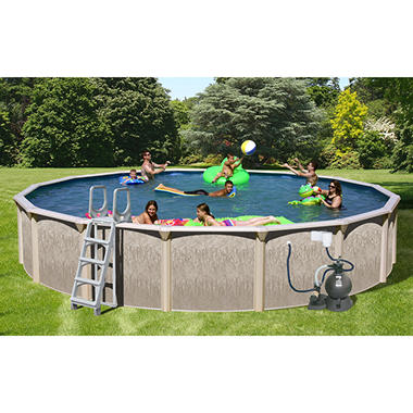 Sun N Fun Galaxy View Round Above Ground Pool Package - 18' x 52