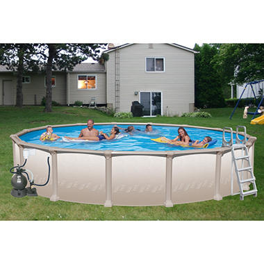 Nautilus 21 39 x 52 round deluxe pool package sam 39 s club for Swimming pool technician salary