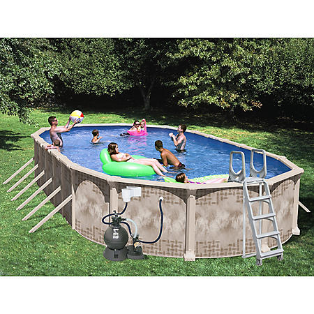Nautilus 45 X 18 X 52 Quot Oval Deluxe Pool Package Sam S Club
