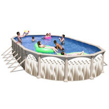 Novella Complete Above Ground Pool Package - 30' x 15' x 52""