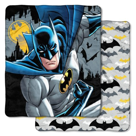 "Warner Bros.' Batman ""To The Rescue"" Double-Sided Cloud Throw, 60""x 70"""