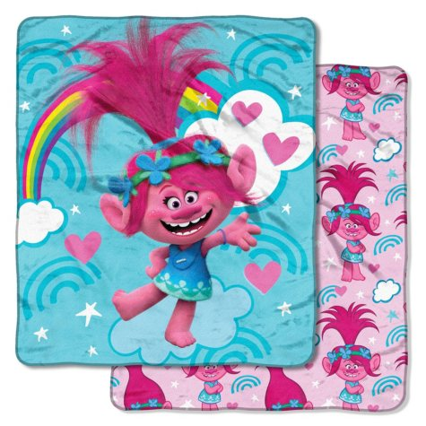 "DreamWorks Trolls ""Fall Rainbow"" Double-Sided Cloud Throw, 60"" x 70"""
