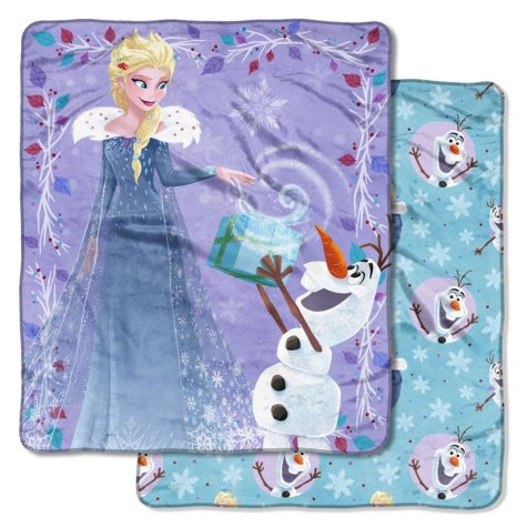 """Disney's Frozen """"My Gift is You"""" Double-Sided Cloud Throw, 60"""" x 70"""""""