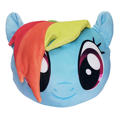 "Hasbro's My Little Pony, ""Rainbow Dash"" 3D Ultra-Stretch Travel Cloud Pillow (14"