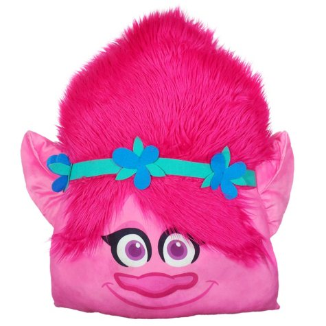 "DreamWorks Trolls 24"" Square 3D Ultra Stretch Travel Cloud Pillow"