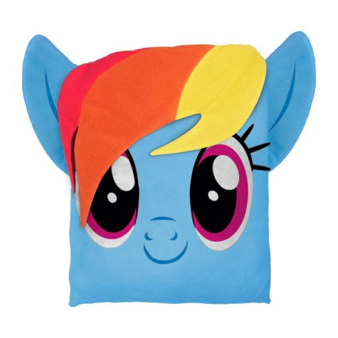 "Hasbro's My Little Pony 24"" Square 3D Ultra Stretch Travel Cloud Pillow"