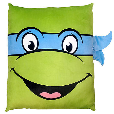 "Nickelodeon's Teenage Mutant Ninja Turtles 24"" Square 3D Ultra Stretch Travel Cloud Pillow"