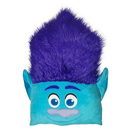 "DreamWorks Trolls, ""Branch"" 24"" Square 3D Ultra Stretch Travel Cloud Pillow"