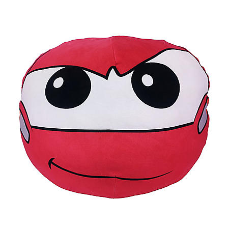 "Disney Pixar's Cars 3, ""Lightning McQueen"" 3D Ultra-Stretch Travel Cloud Pillow (14""x 14"")"