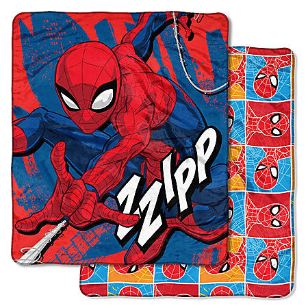 """Marvel's Spider-Man """"Fast Spider"""" Double-Sided Cloud Throw, 60"""" x 70"""""""