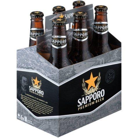 Sapporo Premium Beer (12 fl. oz. bottle, 6 pk.)