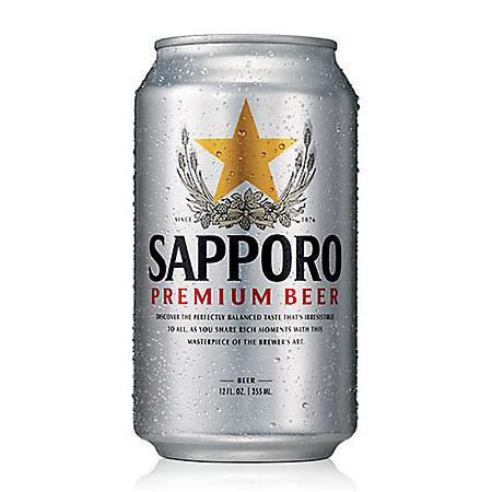 Sapporo Premium Beer (12 fl. oz. can, 12 pk.)