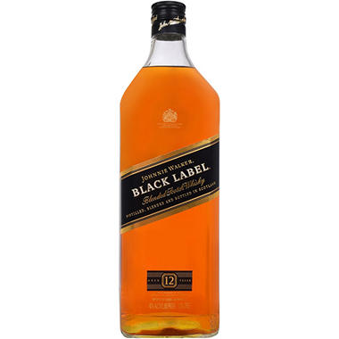 Johnnie Walker Black Label 12 Year Old Blended Scotch Whisky (1.75 L)