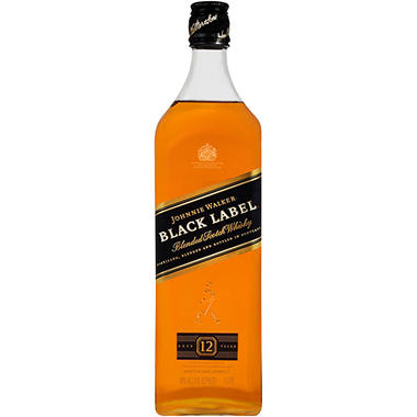Johnnie Walker Black Label 12 Year Old Blended Scotch Whisky (1 L)