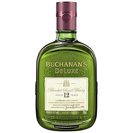 Buchanan's DeLuxe Aged 12 Years Blended Scotch Whisky (750mL)