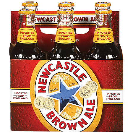 NEWCASTLE BROWN ALE 6 / 12 OZ BOTTLES