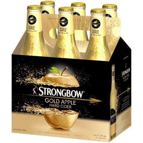 Strongbow Gold Apple Hard Cider (12 fl. oz. bottle, 6 pk.)