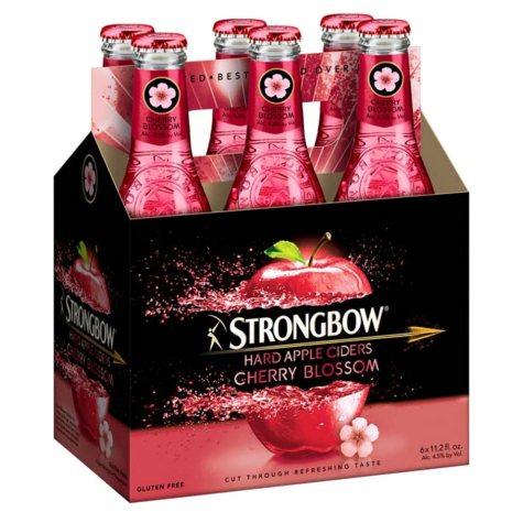 Strongbow Hard Apple Cider Cherry Blossom (11.2 fl. oz. bottle, 6 pk.)