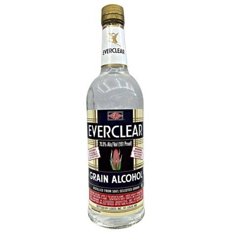 Everclear Grain Alcohol 190 (750 mL)