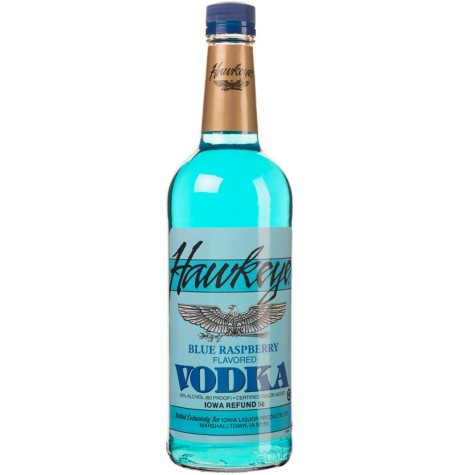 Hawkeye Blue Raspberry Flavored Vodka (1 L)